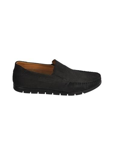 Ayakmod 414 Haki Nubuk Hakiki Deri Erkek Günlük Ayakkabı Siyah